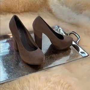 Candie's Suede Platform Heels